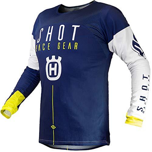 Shot Erwachsene Husqvarna Jersey (Blau/Gelb, Größe Mittel)
