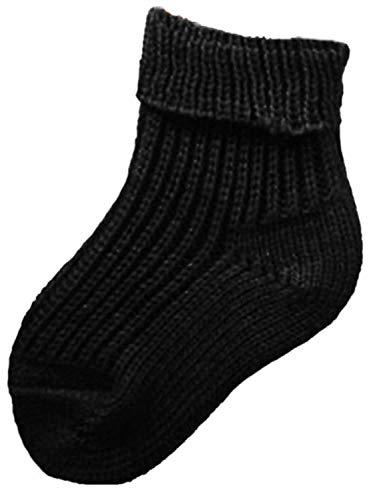 Shimasocks Baby Kinder Socken Schafpatenwolle schwarz, Farben alle:schwarz, Größe:62/68