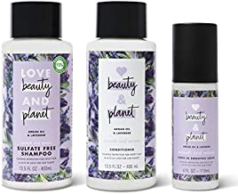 Love Beauty & Planet Shampoo, Conditioner and Leave In Cream Argan Oil and Lavender13.5 oz 3 Count