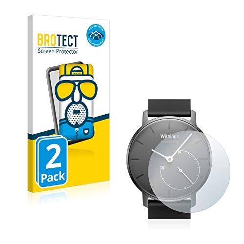 BROTECT Full-Cover Schutzfolie Matt kompatibel mit Withings Activité Pop (2 Stück) - Full-Screen Bildschirmschutz-Folie, 3D Curved, Anti-Reflex