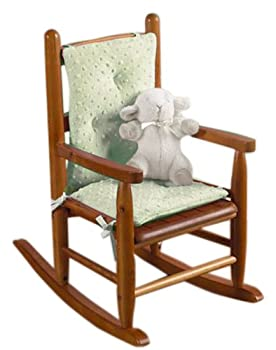 Baby Doll Bedding Heavenly Soft Child Rocking Chair Cushion Pad Set Sage  Chair is not Included with The Product