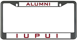 Dwi24isty License Plate Frame IUPUI Metal in Black Alumni US Size 12×6 Inches