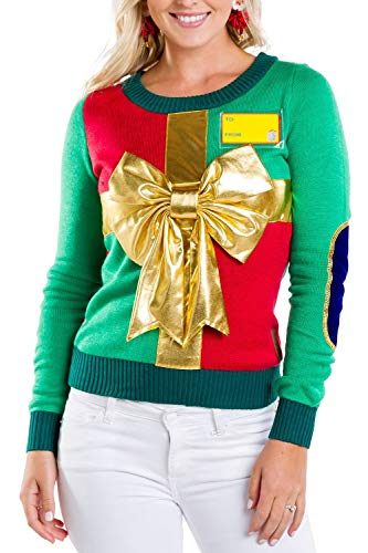 Tipsy Elves Women's Sweater: Medium Green