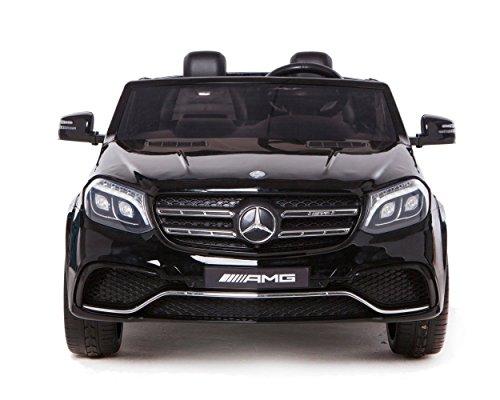 RC Kinderauto kaufen Kinderauto Bild 1: ES-TOYS Kinderfahrzeug - Elektro Auto Mercedes GLS63 AMG - lizenziert - 2X 12V7AH Akku,4 Motoren- 2,4Ghz Fernsteuerung, MP3 Ledersitz (Schwarz)*