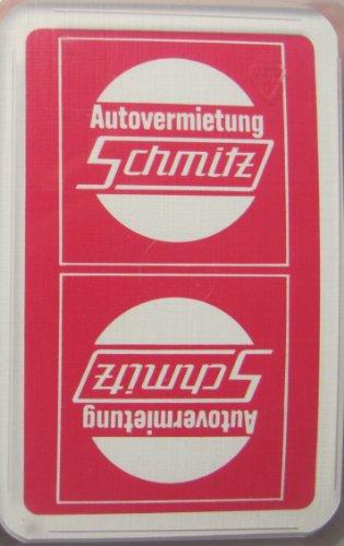 Autovermietung Schmitz - Skatspiel (Leinen) - franz. Blatt