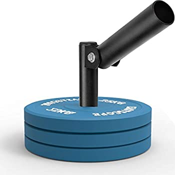 ZEVET T-Bar Row Plate Post Insert Landmine Attachment Fits 2  Olympic Bars - 360° Swivel Easy to Install for Home Gym