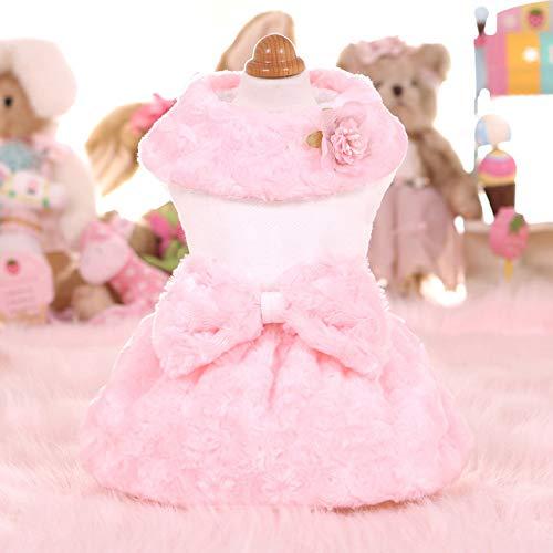 ZFFLYH herfst en winter dames konijntje reliëf plus fluwelen jas jas teddy huisdier hondenkleding voor kleine honden hoogwaardige warme hondenkleding