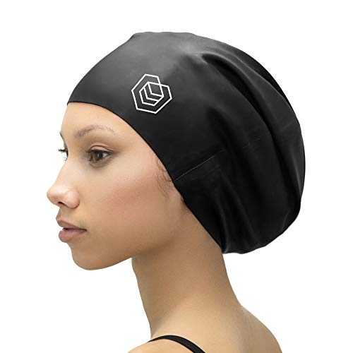 SOUL CAP XL – extra große Badekappe/Schwimmkappe/Bademütze/Duschhaube | für langes Haar, Dreadlocks, Weaves, Extensions, Rastazöpfe, Locken & Afrohaare