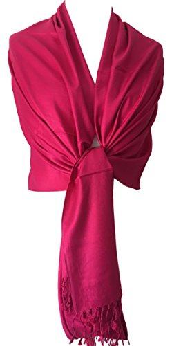 Purple Possum UK Damen Schal rosa Pink, Cerise, Hot Pink, Fuschia One size