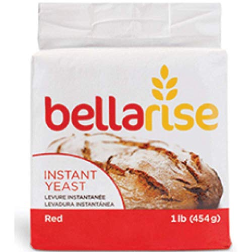 Bellarise (Red) Instant Dry Yeast - 1 LB Fast Acting Instant Yeast for Bread