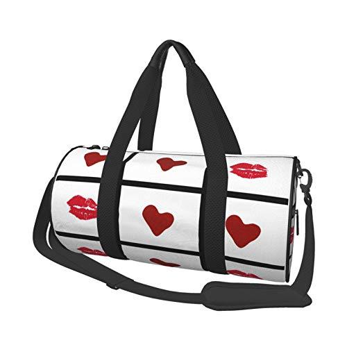 Bolsa deportiva ligera y potable, bolsa de lona para el hombro, bolsa de lona Tic Tac Toe Love! Gran capacidad para deportes de viaje, bolsa multifunción para gimnasio