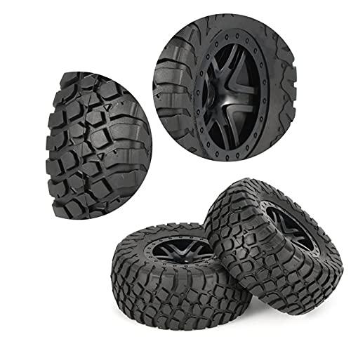 (H) Neumáticos RC Crawler 4pcs 110 mm llanta de rueda y neumático de camión corta para 1/10 camión fuera de carretera Crawler RC Modelo de automóviles Accesorios Accesorios Neumáticos RC Slash 4x4 Neu