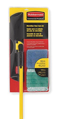 Rubbermaid Wet/Dry Floor Kit, Microfiber, 55'L, Black;Yellow
