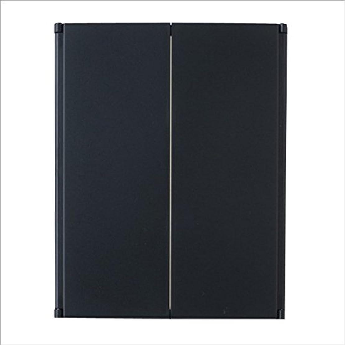 ウォーターフロント解釈する貼り直す三面スタンドミラー ブラック Y-1003 Y-1003