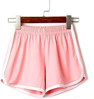 2018 Women Elastic Waist Short Pant Lady Summer Sport Shorts Beach Short Pants Soft Cotton All-Match Loos Short Femme : Pink, S, China