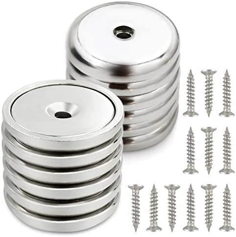 Neodymium Cup Magnets Strongest Round Base Magnets Hold up to 95 Pounds 12pack product image
