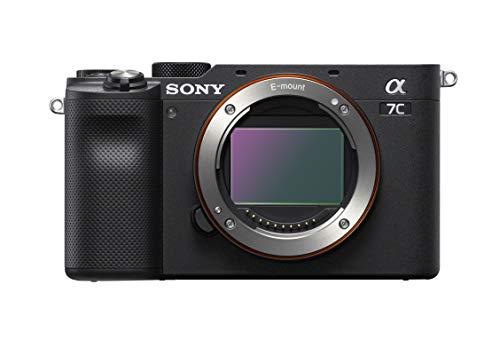 Sony Alpha 7 C - Cámara evil de fotograma completo (compacta y ligera, enfoque automático a tiempo real, 24.2 megapíxeles, sistema de estabilización de 5 ejes, batería de gran capacidad) negro