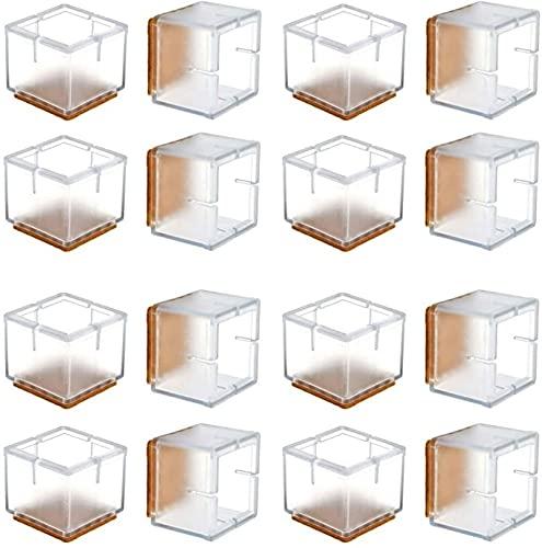 RTUTUR Castor Cups 16 STÜCKE Stuhlbein Boden Protektoren Transparent Klarer Silikon Tisch Möbel Bein Füße Abdeckungen Caps Filzkissen 1