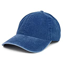 Great quality plain oversized XXL soft crown baseball cap for those with big head sizes 6 Panels, Low profile, Unstructured and Soft Crown , Fitted with an inner sweatband Stiff and pre-curved bill, same color under bill Finished with an adjustable m...