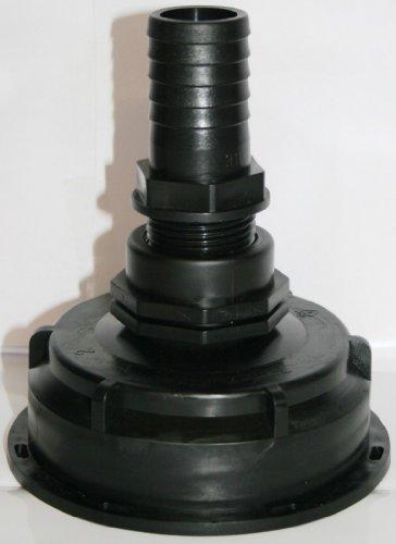 *AMS10029089 Auslaufstutzen S100 x 8 mit Übergangsnippel + Schlauchtülle , IBC-Container-Zubehör-Regenwasser-Tank-Adapter-Fitting-Kanister