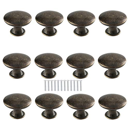 12 Stück Vintage Schrank Schublade Knauf Heavy Duty Retro Pull Griffe Kommode Kleiderschrank Griff Knauf Antik Stil Pull Plate Schrank Griff