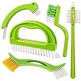 Set de 5 cepillos para Limpieza de Juntas y Azulejos,Cepillo para Juntas de Cocina y hogar, baño y Cocina y Limpieza de Azulejos