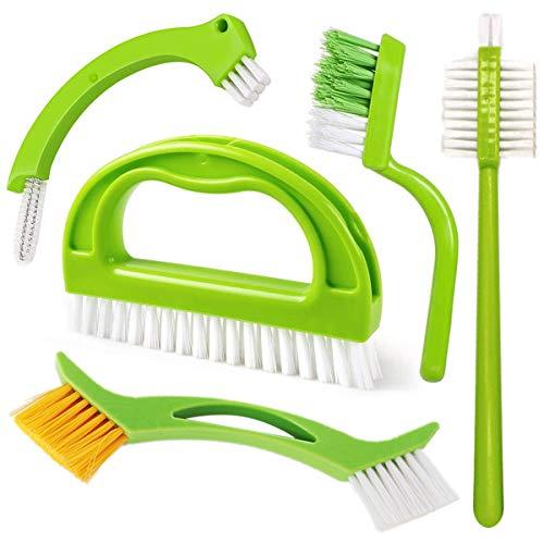 Set de 5 cepillos para Limpieza de Juntas y Azulejos,Cepillo para Juntas de Cocina y hogar, baño y...