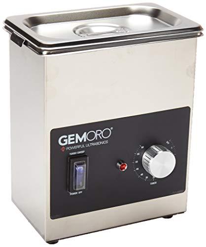 GemOro 1.5PT Next Gen Stainless Steel Ultrasonic Jewelry Cleaner