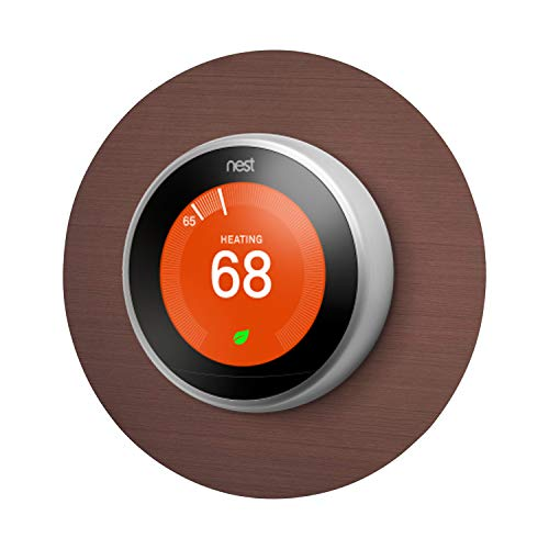 Wasserstein Beautiful Round 6' Wall Plate Cover Compatible with Nest 2nd and 3rd Generation Thermostat (Copper)
