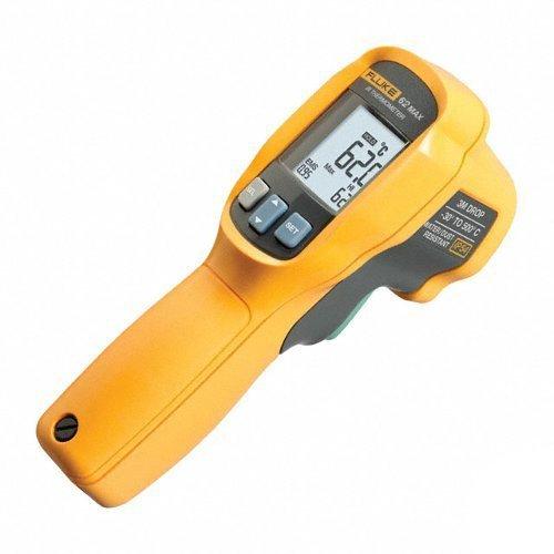 Fluke 62 MAX - Dust/Water Resistant, Tough, Backlit LCD, Battery Powered, -30 to 500 Celsius (-22 To 932 Fahrenheit) Infrared (IR) Thermometer/Thermal Reader, [Importado de UK]