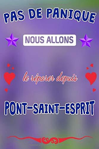 Pas de panique, nous allons le réparer depuis Pont-Saint-Esprit: journal | agenda | carnet de notes avec page lignée