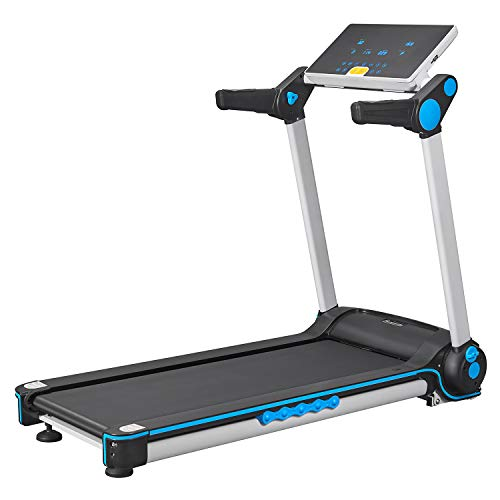 FISUP Foldable Treadmill Electric Running Jogging Machine with Manual Incline and LCD Display for Home Use No Installation Required