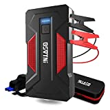 Portable Jump Starter OSVTNI 2000A 16000mAh Emergency Battery Starter (7.0L Petrol, 6.5L Diesel) Auto Motorcycle Battery Charger Equip the Life Hammer and the Led Light, USB Port QC 3.0 & Type C