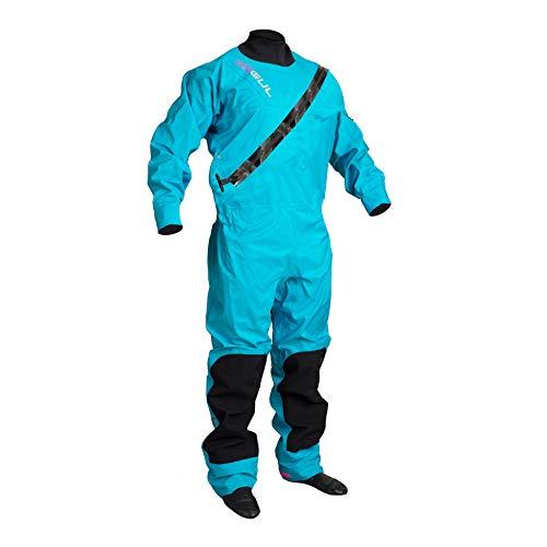 GUL Frauen Dartmouth ECLIP Zip Drysuit Dry Suit in Blau - Enthält Underfleece - 3 Schicht - wasserdichtes Gewebe - 3 Schicht - Dry Suit