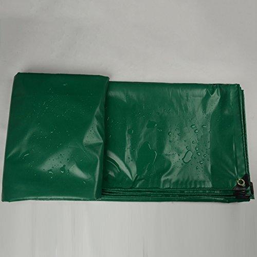 ZEMIN Bâche Protection Couverture Transparente Imperméable Crème Solaire Tente Drap Toit Coupe-Vent Couverture Durable Protection Épaissir Polyester, Vert, 450G / M², 15 Tailles Disponibles