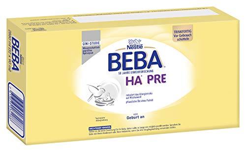 Nestlé BEBA PRO HA PRE Hypoallergene Säuglings-Anfangsnahrung, trinkfertig , von Geburt an, 32er Pack (32 x 90 ml)