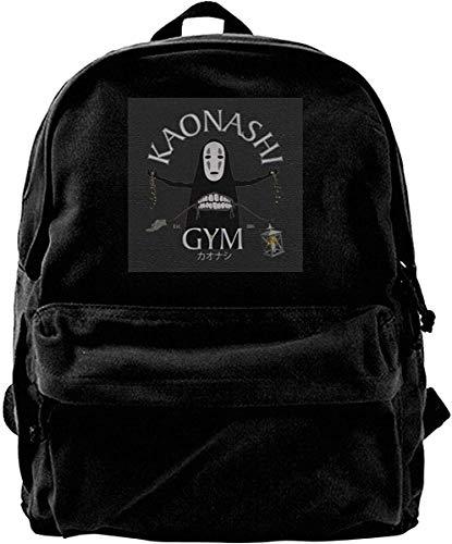 Homebe Mochila antirrobo Impermeable,Canvas Backpack No Face Gym Spirited Away Kaonashi Rucksack Gym Hiking Laptop Shoulder Bag Daypack for Men Women