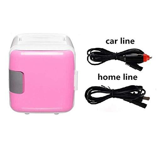 ZJY Kleiner Single-Soor-Kühlschrank, kalter und Warmer Dual-Use-Kühlschrank, tragbarer zweischichtiger, geräuscharmer Kühlschrank, geeignet für zu Hause, Schlafsaal, Auto