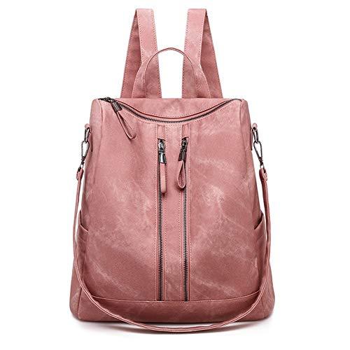GYYlucky Tasche weiblich 2019 Neue koreanische Version weichen Pu-Leder Damen Rucksack Ebay Trend Rucksack (Color : Pink)