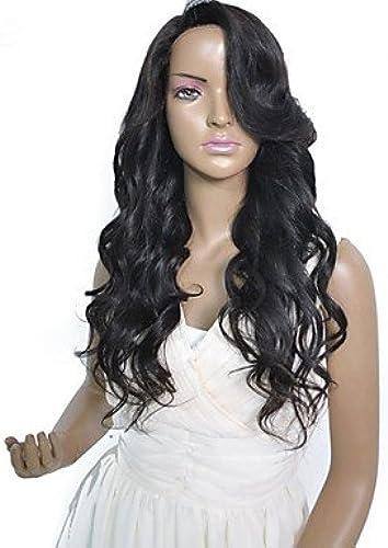 Vente chaude 180 densit brazilian avant de dentelle de cheveux vierges perruque pour les femmes noire
