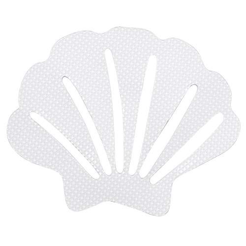 CHICTRY 12Pcs Pegatinas de Bañera Antideslizantes en Forma de Concha Calcomanías Adhesivas Pisadas de Ducha de Seguridad Blanco One Size