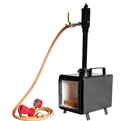 Simond Store Portable Propane Forge Single Burner, Gas Forge for Forging Tools Equipment Blacksmithing Farrier Knife Making - Rectangle Shape Steel Forge