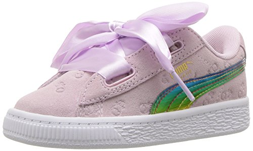 PUMA Baby Minions Suede Heart Fluffy Kids Sneaker, Winsome Orchid, 7 M US Toddler