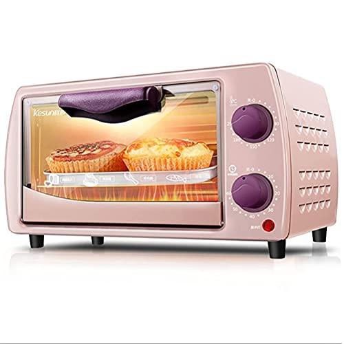 YUEDAI 9L Mini Horno, Fabricantes de Pan tostadora Horno Hogar Cocina Hornear Pequeño Horno eléctrico automático Multifunción (Color : Pink)