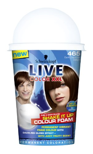 Schwarzkopf Live Color XXL Shake It Up Color Foam 465 - Espuma de chocolate oscuro