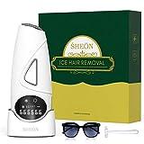 Sheon 999.999 - Dispositivo di depilazione IPL per la depilazione senza dolore costante per corpo e viso con modalità di raffreddamento