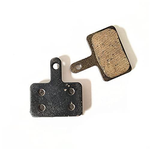 2 piezas de pastillas de freno de disco de resina bloque de fricción de repuesto de bicicleta ligera para accesorios de bicicleta de montaña MTB