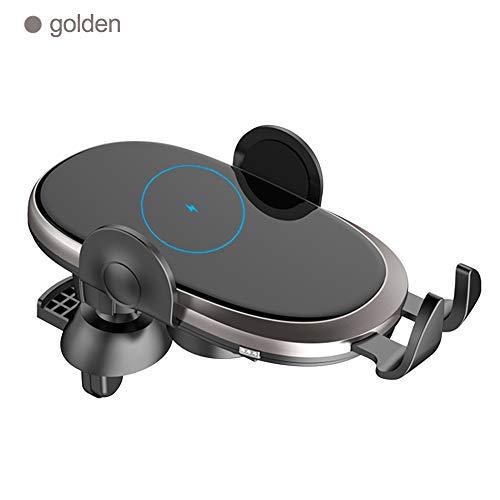 Qi Carga Soporte para Teléfono de Coche,Soporte para Teléfono Inteligente Cargador Inductivo para Automóvil con 3 Modos de Carga