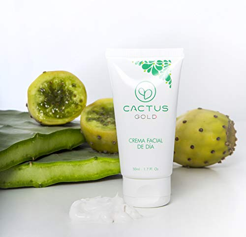 Crema Facial de dia con Aceite de Opuntia | Contiene aceite de semilla de higo chumbo | 50 ml | Cactus Gold