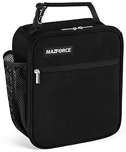 MAZFORCE Original Lunch Bag Insulated Lunch Box – Tough & Spacious Adult Lunchbox to Seize Your Day (Black- Lunch Bags Designed in California for Men, Adults, Women)